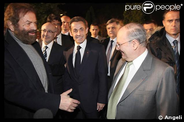 Marek Halter, Nicolas Sarkozy et Richard Prasquier, président du CRIF