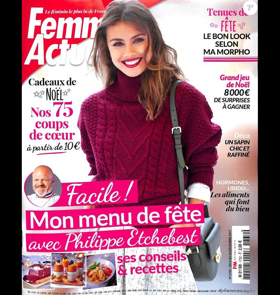 couverture du magazine femme actuelle num ro du 4 au 10 d cembre 2017 purepeople. Black Bedroom Furniture Sets. Home Design Ideas