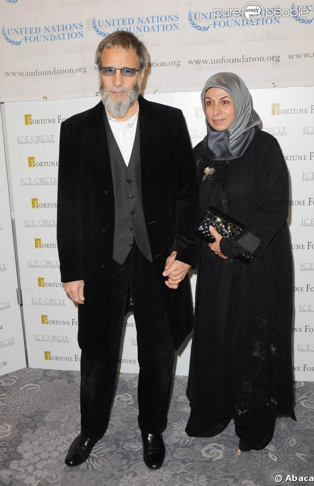 Cat Stevens et sa femme Fauzia