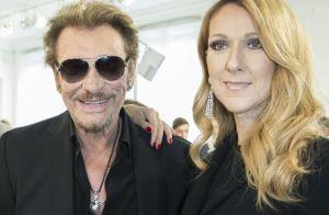 Céline Dion, qui avait enregistré une chanson avec Johnny, pleure