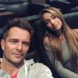 David Hallyday et sa fille Emma Smet sur une photo publiée sur Instagram le 24 septembre 2017