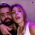 Sarah Lopez fête son anniversaire avec Vincent Queijo, Snapchat, 27 mars 2017