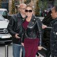 Mariah Carey à l'hôtel Plaza Athénée à Paris le 7 décembre 2017.