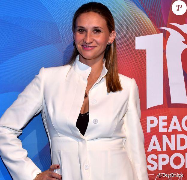 Tatiana Golovin, la joueuse de tennis française d'origine russe, durant la soirée de gala du 10ème Forum international de Peace and Sport au Sporting à Monaco le 7 décembre 2017. © Bruno Bebert/Bestimage