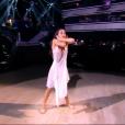 Tatiana Silva dans DALS 8, la finale, le 13 décembre 2017 sur TF1. La deuxième danse.