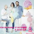"""Mercotte, Cyril Lignac et Julia Vignali prêts pour la nouvelle saison du """"Meilleur Pâtissier"""" sur M6."""