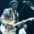Nile Rodgers et son groupe Chic en concert au BluesFest 2017 à l'O2 Arena à Londres. Le 28 octobre 2017