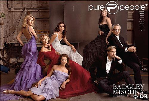 Carrie Underwood, Eva Longoria, Brooke Shields, Lauren Hutton, Anjelica Hutton pour Badgley Mischka