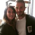 Joanne Beckham avec son frère David le 12 juin 2017