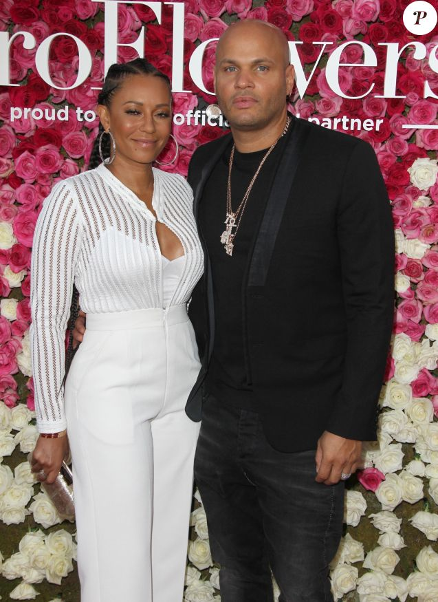 Mel B (Melanie Brown) et son mari Stephen Belafonte à la première de Mother's Day (Fête des mères) au théâtre The TCL Chinese à Hollywood, le 13 avril 2016