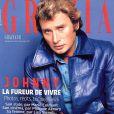 Johnny Hallyday en couverture de Grazia, en kiosques depuis le 13 décembre 2017.