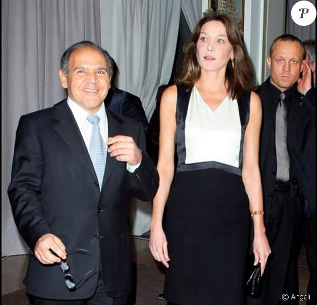 Cara Bruni et Sydney Ohana au gala de charité organisé au profit de l'hôpital Hadassah de Jérusalem. 05/03/09