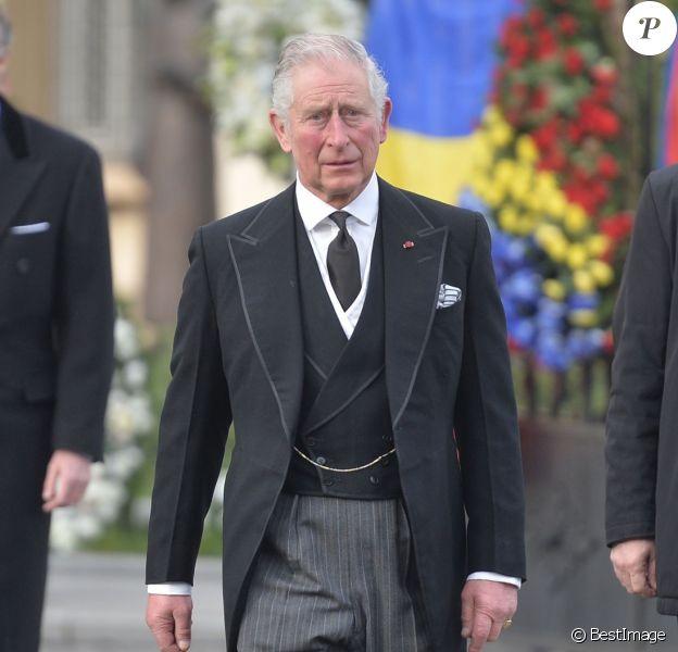 Le prince Charles - Obsèques du roi Michel de Roumanie à Bucarest, le 16 décembre 2017.