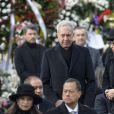 Hans Klemm et sa femme Mari Kano - Obsèques du roi Michel de Roumanie à Bucarest, le 16 décembre 2017.