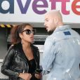 Exclusif - Le chanteur français M. Pokora et sa compagne la chanteuse américaine Christina Milian quittent Nice après avoir officialisé leur relation la veille au soir sur le tapis rouge des NRJ Music Awards le 5 novembre 2017.