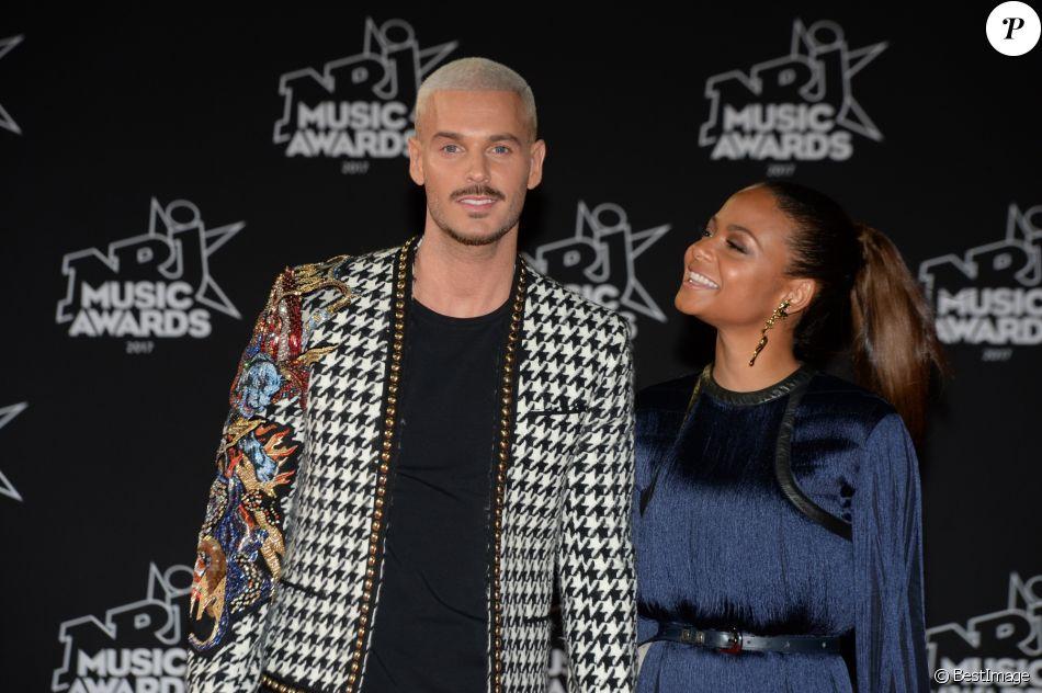 Le chanteur français M. Pokora et sa compagne la chanteuse américaine Christina Milian - 19ème édition des NRJ Music Awards à Cannes le 4 novembre 2017. © Rachid Bellak/Bestimage