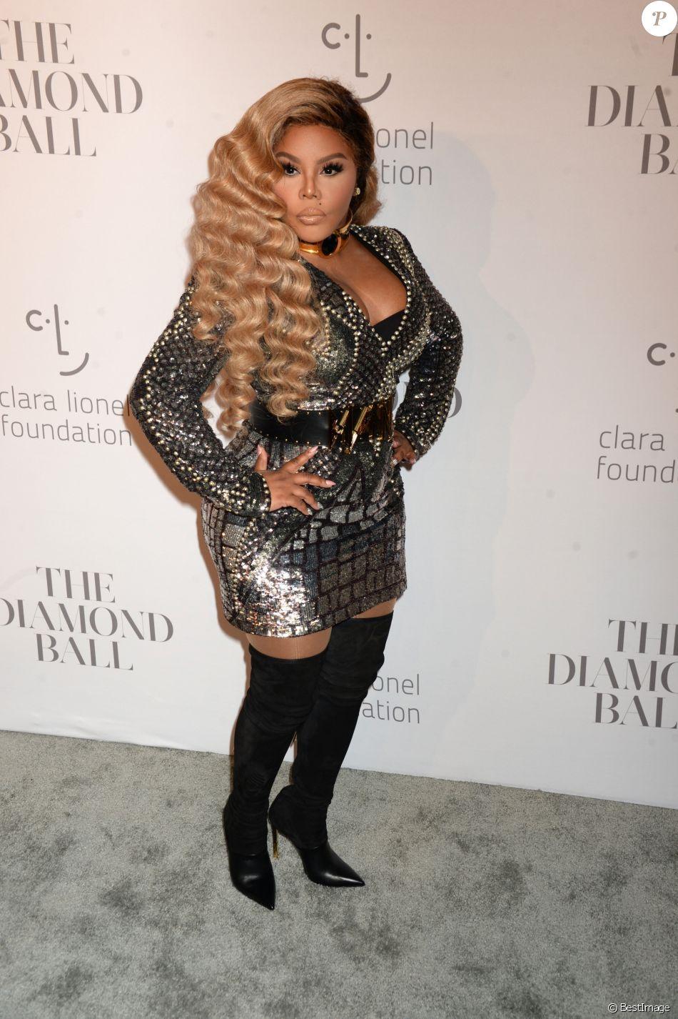 Lil' Kim à la soirée Diamond Ball à New York le 14 septembre 2017.