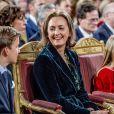La princesse Claire de Belgique lors du concert de Noël le 20 décembre 2017 au palais royal à Bruxelles.