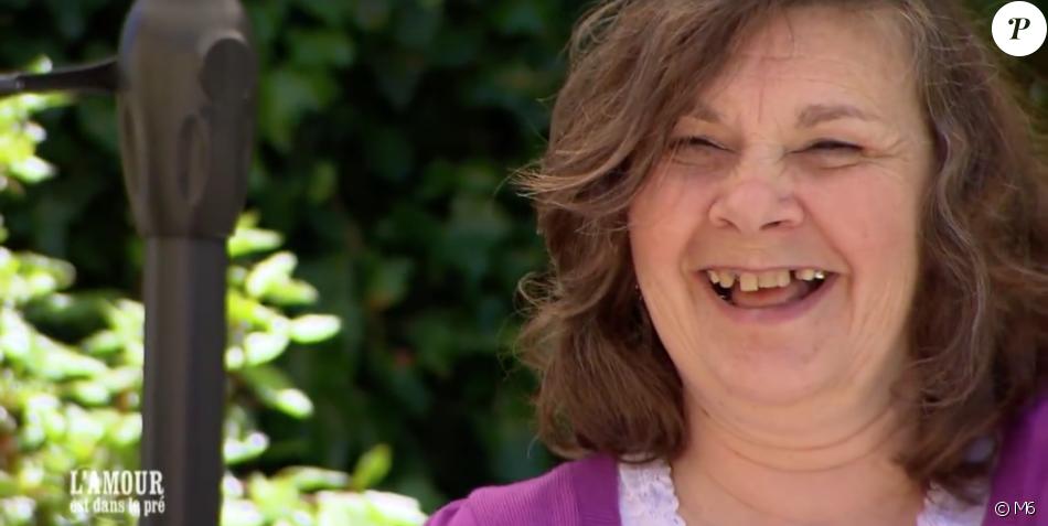 """Françoise dans """"L'amour est dans le pré"""", le 18 septembre 2017 sur M6."""