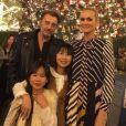 Johnny Hallyday entouré de sa femme Laeticia et leurs deux filles Jade et Joy pour leur dernier Noël ensemble à Los Angeles. Instagram, le 23 décembre 2016.