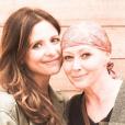 Sarah Michelle Gellar rend hommage à son amie Shannen Doherty qui lutte contre un cancer du sein. Photo publiée sur Instagram, au mois d'août 2016