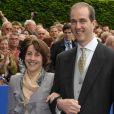 Le prince Eudes d'Orléans et sa femme la princesse Marie-Liesse au mariage de son frère Jean d'Orléans et de Philomena de Tornos y Steinhart, le 2 mai 2009 à Senlis.