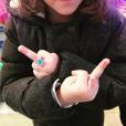 Daphné Bürki, sa fille Suzanne est déjà très mignonne à 4 ans ! Le 1er janvier 2018.
