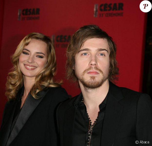 Julien Doré et Louise Bourgoin aux César en février 2008