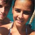 Pauline Ducruet en vacances dans les Cyclades en août 2016, selfie à Delos, photo Instagram.
