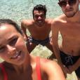 Pauline Ducruet et Maxime Giaccardi lors de leur séjour à Mykonos en août 2016, photo Instagram.