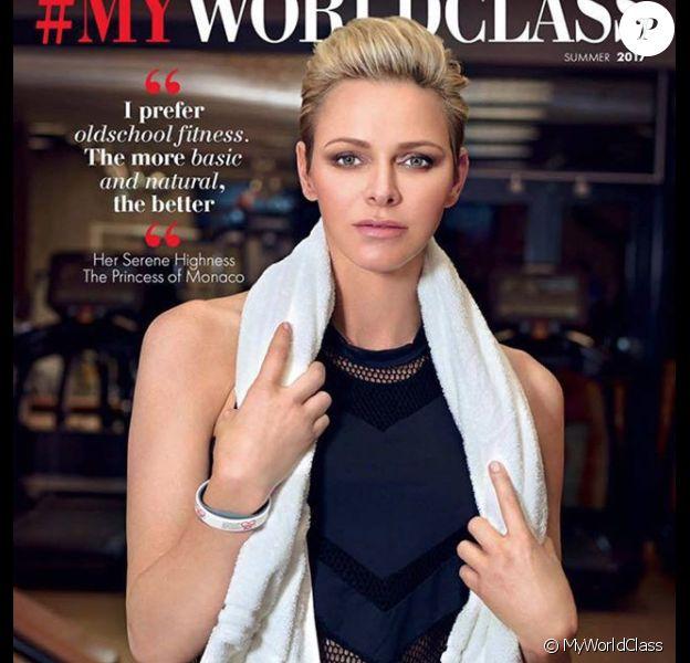 La princesse Charlene de Monaco s'est prêtée devant l'objectif du photographe Gil Zetbase à un shooting glamour pour le premier numéro de MyWorldClass, magazine lancé en fin d'année 2017 par la salle de sport World Class Monaco. © Instagram/Gil Zetbase/MyWorldClass