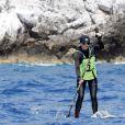 Exclusif - La princesse Charlene de Monaco lors de la 2e Riviera Sup Race, une course de stand up paddle de 14 km, le 25 juin 2016. © Claudia Albuquerque/Bestimage