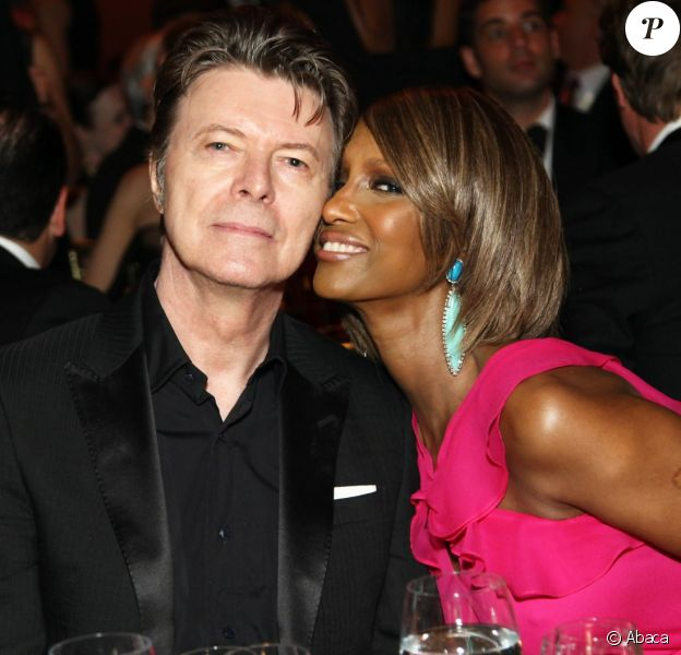 David et Iman Bowie à New York. Avril 2011.