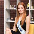 Exclusif - Rendez-vous avec la Miss France 2018, Maëva Coucke dans les locaux de Webedia à Levallois-Perret le 9 Janvier 2018. © Tiziano Da Silva / Bestimage