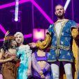 """M. Pokora au concert des Enfoirés 2017, """"Mission Enfoirés"""", tourné en janvier au Zénith de Toulouse et diffusé le vendredi 3 mars sur TF1."""