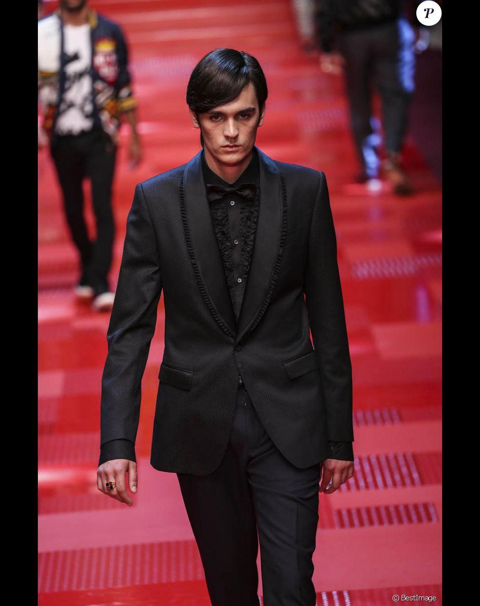 """Alain-Fabien Delon - Défilé de mode Hommes """"Dolce & Gabbana"""" 2018 lors de la fashion week de Milan. Le 17 juin 2017"""