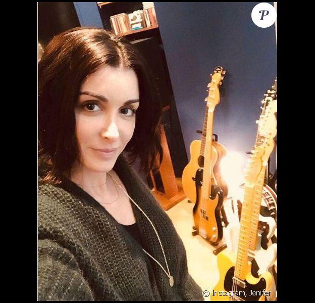 Jenifer en studio, 12 janvier 2018, Instagram