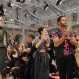 Lorenzo Marlone et Rachel Zoe au défilé Vuitton le 12 mars