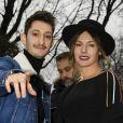 Pierre Niney et sa compagne Natasha Andrews - Arrivée des people au défilé de mode Dior Homme Automne-Hiver 2018-2019 à Paris, le 20 janvier 2018. © Pierre Perusseau/Bestimage