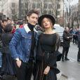 Pierre Niney et sa compagne Natasha Andrews - Arrivée des people au défilé de mode Dior Homme Automne-Hiver 2018-2019 à Paris, le 20 janvier 2018. © CVS/Veeren/Bestimage