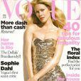 Claudia Schiffer pour Vogue UK d'avril 2009
