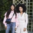 Ibeyi (Naomi Diaz et Lisa-Kainde Diaz) - Défilé de mode «Chanel», collection Haute-Couture printemps-été 2018, au Grand Palais à Paris. Le 23 janvier 2018 © Olivier Borde / Bestimage