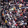"""Manifestations géantes aux États-Unis. Ici sur la 6ème avenue à New York, pour la 2e """"Marche des femmes"""" anti-Trump à l'occasion du premier anniversaire de son investiture. Le 20 janvier 2018."""