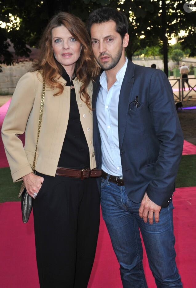 Gwendoline Hamon et Frederic Diefenthal à Paris le, 13 Juin 2013 - Soiree privee Piaget a l'Orangerie Ephemere dans le jardin des Tuileries.