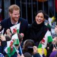 Le prince Harry et Meghan Markle en visite au château de Cardiff, le 18 janvier 2018.