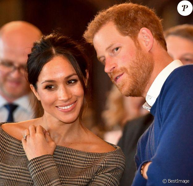 Le prince Harry et Meghan Markle au château de Cardiff le 18 janvier 2018.