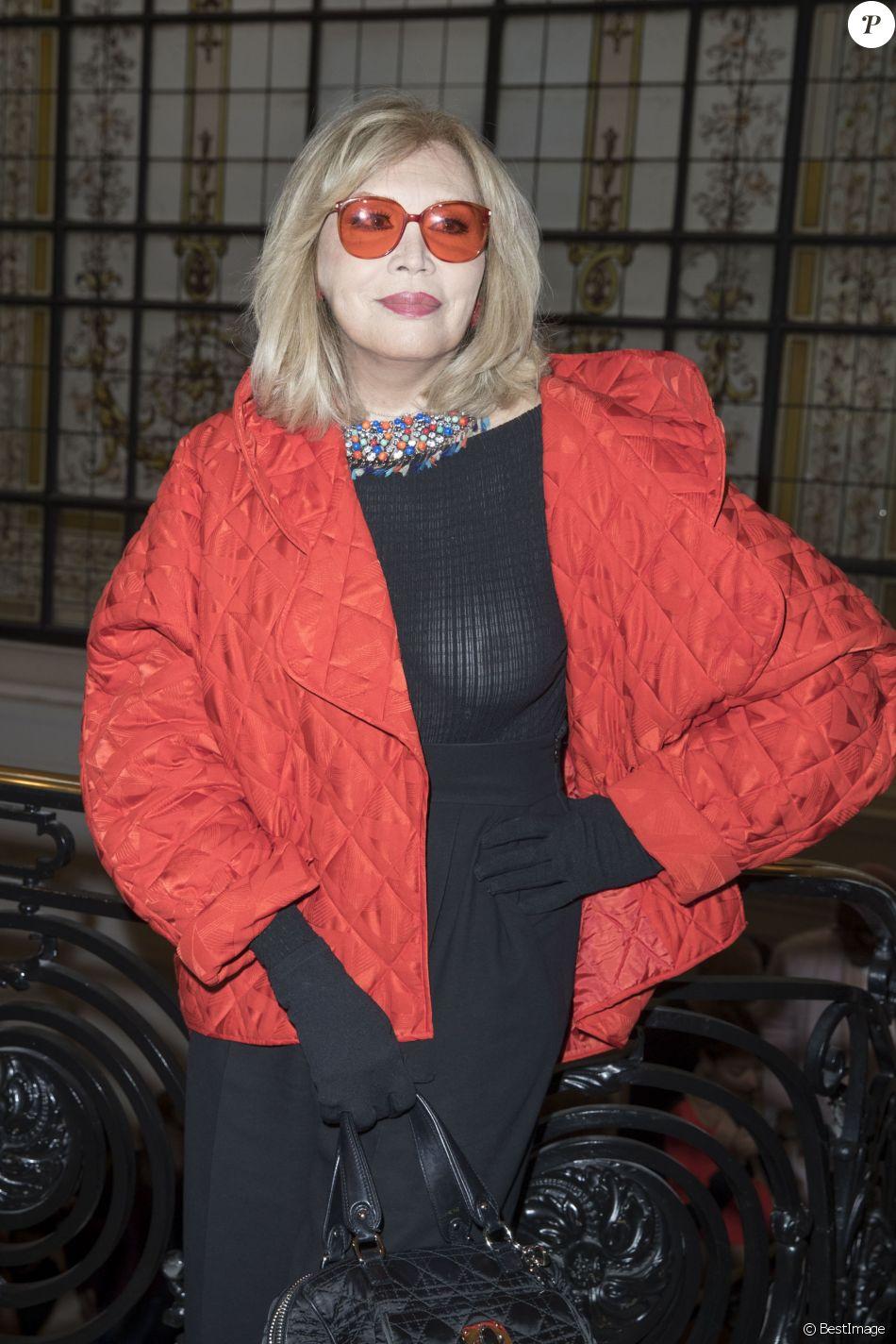 Amanda Lear au défilé de mode Jean Paul Gaultier, collection haute couture printemps-été 2018, à Paris. Le 24 janvier 2018 © Olivier Borde / Bestimage