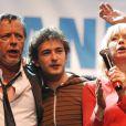 Renan Luce avec Renaud et Romane Serda en novembre 2007