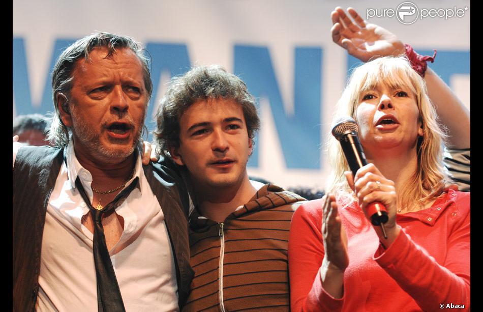 renan luce avec renaud et romane serda en novembre 2007 - Renan Luce Mariage
