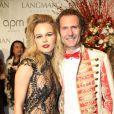 Julie Jardon et son nouveau compagnon Nicolas Mereau à la soirée Couture Ball au Mona Bismarck American Center à Paris, le 26 janvier 2018. © Philippe Baldini/Bestimage